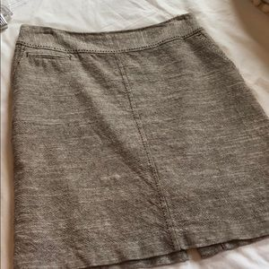 Tan Tweed Pencil Skirt